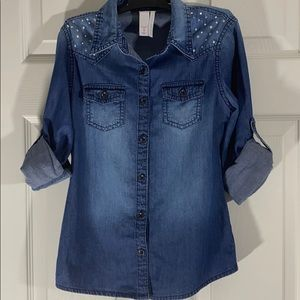 JUSTICE. GIRLS TOP. SIZE 8